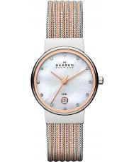 Skagen 355SSRS Ladies klassik two tone stalen horloge