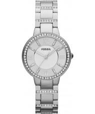 Fossil ES3282 Ladies Virginia zilver stalen horloge