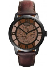 Fossil ME3098 Mens townsman bruin leder automatisch horloge