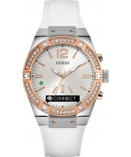 Guess Connect C0002M2 Witte siliconen band slimme horloge