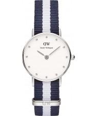 Daniel Wellington DW00100074 Ladies classy Glasgow 26mm zilveren horloge