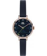 Orla Kiely OK2036 Ladies klimop marine lederen band horloge