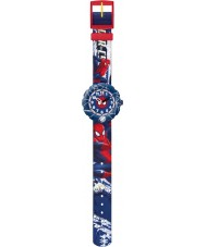 Flik Flak FLSP001 Jongens spider-cycle blue watch