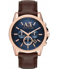 Armani Exchange AX2508 Mannen blauw donker bruin chronograaf jurk horloge