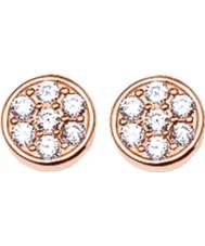 Thomas Sabo H1848-416-14 Ladies sprankelend cirkels zirkonia pave rose gouden oorbellen