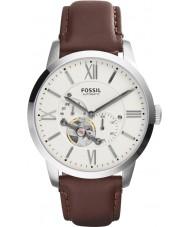 Fossil ME3064 Mens townsman bruin leder automatisch horloge