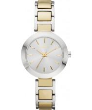 DKNY NY2401 Ladies stanhope two tone stalen armband horloge