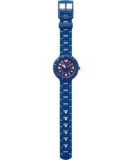 Flik Flak FCSP040 Jongens serieus marine blauw siliconen band horloge