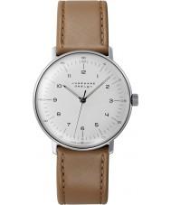 Junghans 027-3701-00 Max Bill tan bruin handmatig opwindbare mechanische horloge