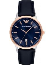 Emporio Armani AR2506 Mens klassieke blauwe lederen band horloge
