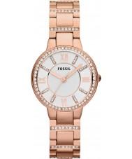 Fossil ES3284 Ladies Virginia rose goud stalen horloge
