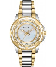 Bulova 98S140 Dames two tone stalen armband horloge
