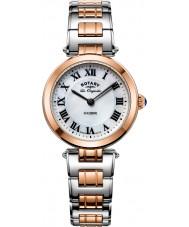 Rotary LB90187-41 Ladies les originales luzerne two tone stalen armband horloge