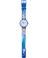 Flik Flak FLNP023 Meisjes disney bevroren Elsa en olaf veelkleurige horloge