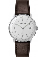 Junghans 041-4461-00 Max Bill Brown lederen band horloge