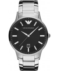 Emporio Armani AR2457 Mens klassieke zwarte zilveren horloge