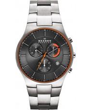 Skagen SKW6076 Mens aktiv grijze titanium chronograaf