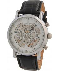 Edward East EDW5342G5 Mens klassieke zwarte lederen band automatisch horloge