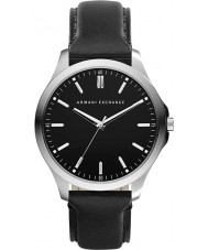 Armani Exchange AX2149 Heren zwart lederen band jurk horloge