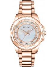 Bulova 98S141 Ladies rose goud vergulde armband horloge