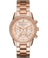 Michael Kors MK6357 Dames Ritz rose goud verguld chronograafhorloge