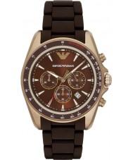 Emporio Armani AR6099 Mannen sporten two tone gemengde band horloge
