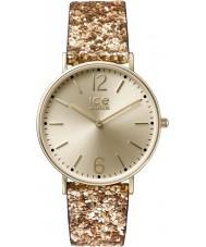 Ice-Watch 001428 Ladies stad madame exclusieve gouden glitter stoffen band horloge