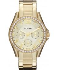 Fossil ES3203 Ladies riley gouden stalen armband horloge