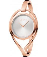 Calvin Klein K6L2M616 Ladies licht rose goud verguld armband horloge