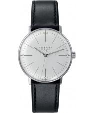 Junghans 027-3700-00 Max Bill Black handmatig opwindbare mechanische horloge