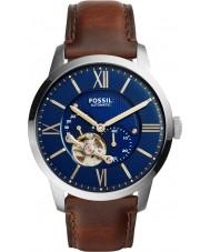 Fossil ME3110 Mens townsman donker bruin lederen band horloge