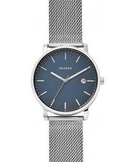 Skagen SKW6327 Mens hagen zilveren stalen gaas armband horloge