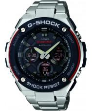 Casio GST-W100D-1A4ER Mens G-shock radio gecontroleerd op zonne-energie zilveren horloge