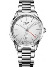 Rotary GB90181-02 Mens les originales traditie zilveren stalen armband horloge