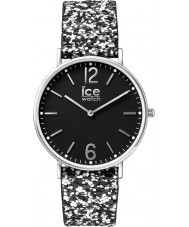 Ice-Watch 001431 Ladies stad madame exclusieve two tone glitter stoffen band horloge