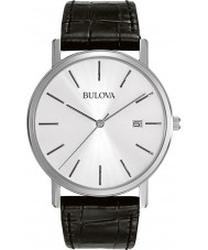 Bulova 96B104 Mens jurk zwart lederen band horloge