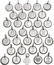 Edblad 116130237-B Charmentity b zilveren staal kleine hanger