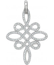 Thomas Sabo PE625-051-14 Ladies zirconia pave knoop zilveren hanger