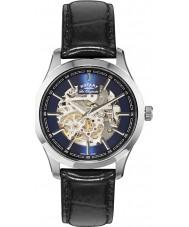 Rotary GS90525-05 Mens les originales staal zwart automatisch horloge