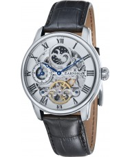 Thomas Earnshaw ES-8006-01 Mens lengte zwarte croco lederen band horloge