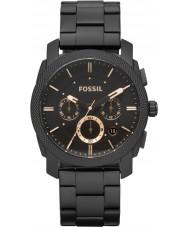 Fossil FS4682 Mens machine zwarte chronograaf horloge