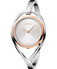 Calvin Klein K6L2MB16 Ladies licht zilver stalen armband horloge
