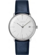 Junghans 041-4464-00 Max besparingen blauw lederen band horloge