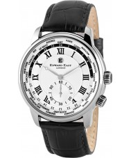 Edward East EDW1960G18 Mens zwart lederen band horloge