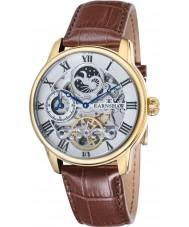 Thomas Earnshaw ES-8006-02 Mens lengte bruine croco lederen band horloge