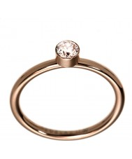 Edblad 2153441938-S Ladies belle uno rose goud verguld ring - de grootte n (en)