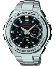 Casio GST-W110D-1AER Mens G-shock radio gecontroleerd op zonne-energie zilveren horloge