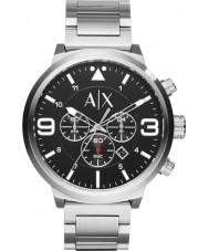 Armani Exchange AX1369 Heren stedelijke zilver staal chronograafhorloge