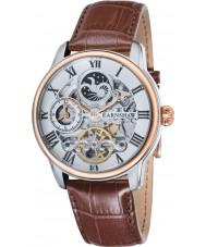 Thomas Earnshaw ES-8006-03 Mens lengte bruine lederen band horloge
