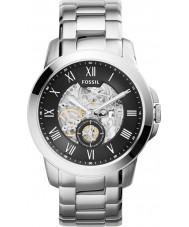 Fossil ME3055 Mens verlenen zilveren stalen armband horloge